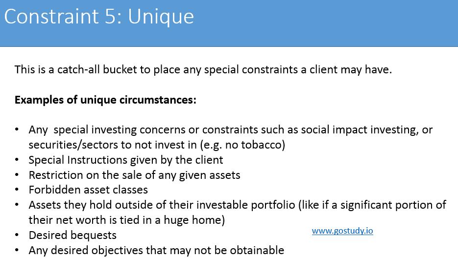 IPS Constraint - Unique CFA L3