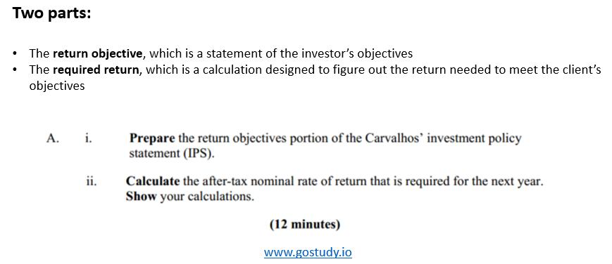 Return Objectives - CFA L3