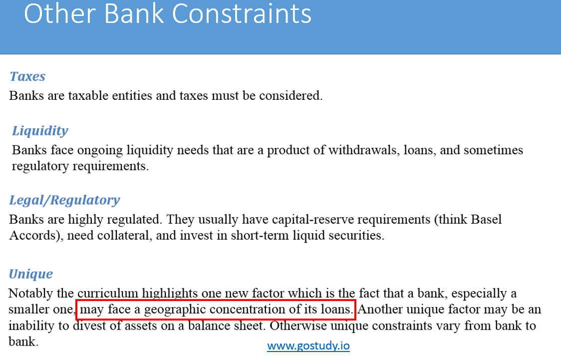 Bank IPS Constraints - CFA