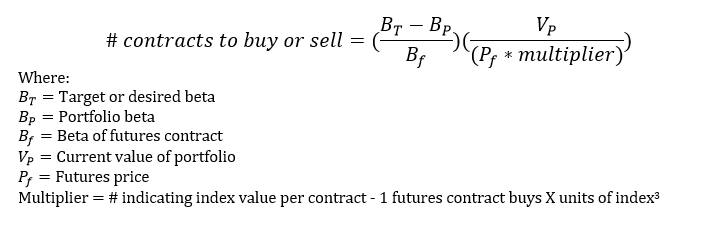 adjusting portfolio beta for CFA Level 3
